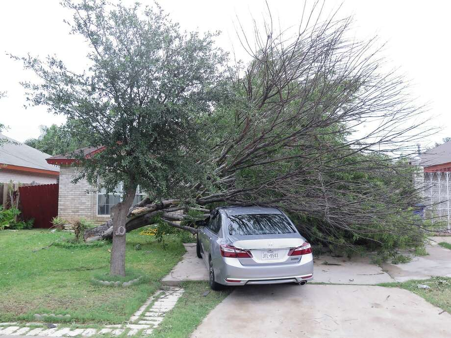 The aftermath of the May 21 thunderstorm that struck Laredo. This photo was taken the following day. Photo: Cuate Santos/Laredo Morning Times