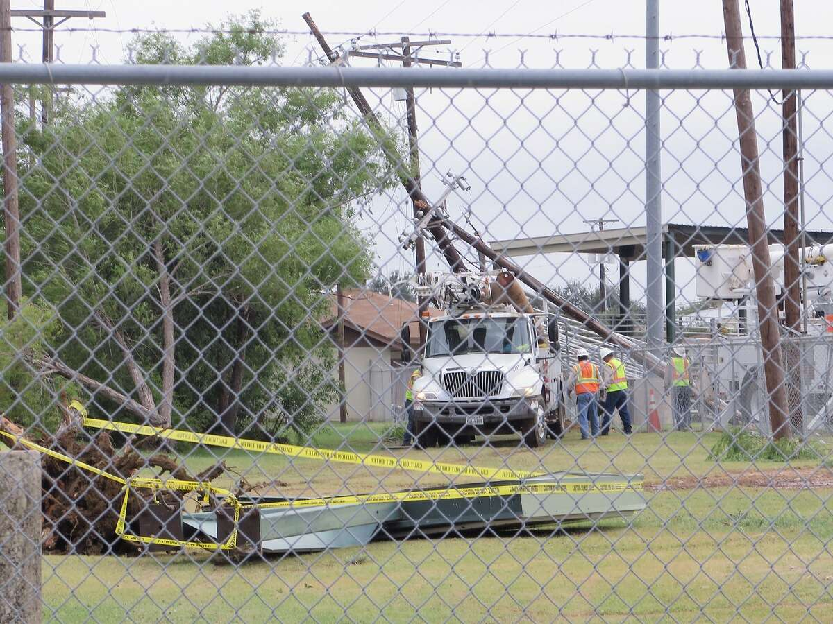 The aftermath of the May 21 thunderstorm that struck Laredo. This photo was taken the following day.