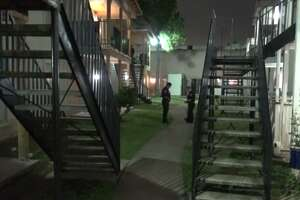 Police are investigating a shooting at a southwest Houston apartment complex that left Monday one man injured. (Metro Video)