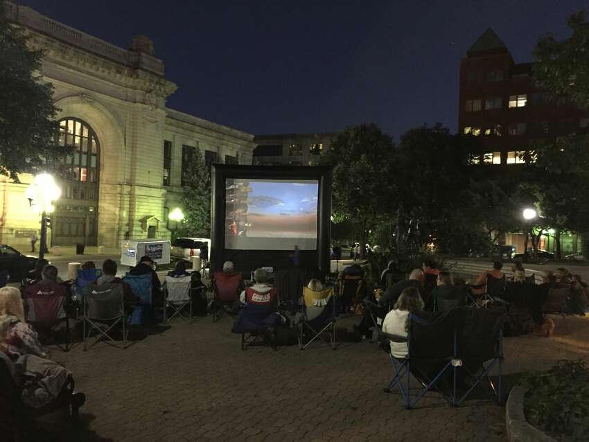 Click through the slideshow to see where you can catch a movie outdoors this summer across southwestern Connecticut.