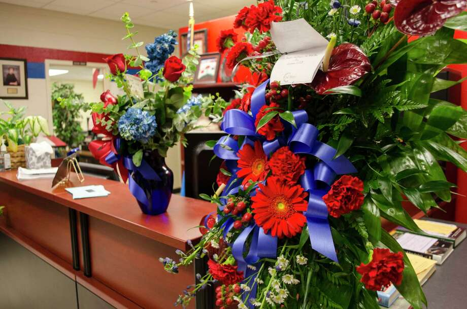 Lumberton ISD and the Lumberton High Senior Class sent flowers to West Brook Monday in memory of Jordan and Jadyn Brown, BISD students killed in a car accident on Friday.Photo taken Monday, May 22, 2017 Sara E. Flores/The Enterprise Photo: The Enterprise/Sara E. Flores