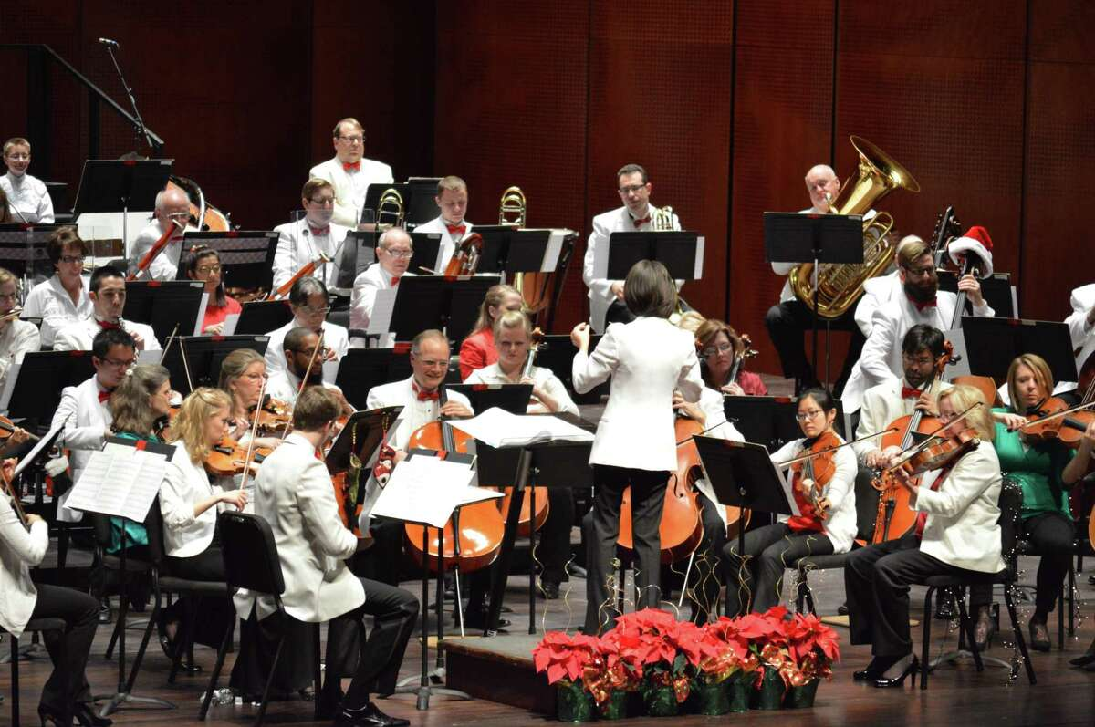 The San Antonio Symphony Pops preparing to perform its annual Holiday Pops concert at the Tobin Center for the Performing Arts in 2015. The San Antonio Symphony might want to focus on Pops full-time to generate a larger crowd.