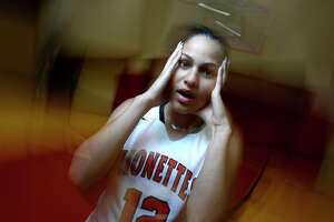 Kountze's Anastasia Depew missed most of her senior year athletics after being diagnosed with concussions in November. Depew is still going through concussion protocol and suffering from migraines.  Photo taken Tuesday 5/16/17 Ryan Pelham/The Enterprise