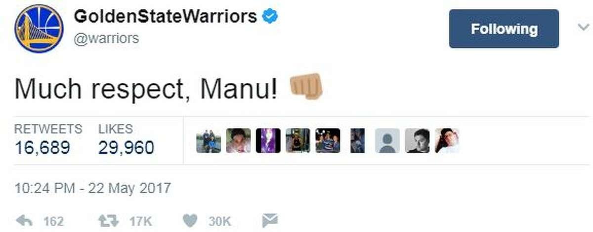 @warriors: More Much respect, Manu!