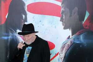 "Legendary comic book writer and artist Frank Miller, seen here at the ""Batman v Superman: Dawn Of Justice"" premiere at Radio City Music Hall on March 20, 2016 in New York City, knows this superhero rivalry all too well. He basically created it in his 1986 masterpiece, ""Batman: The Dark Knight Returns."" Miller headlines the celebrity guests and comic book talents appearing at Alamo City Comic Con, which runs May 26-28, 2017, at the Convention Center."
