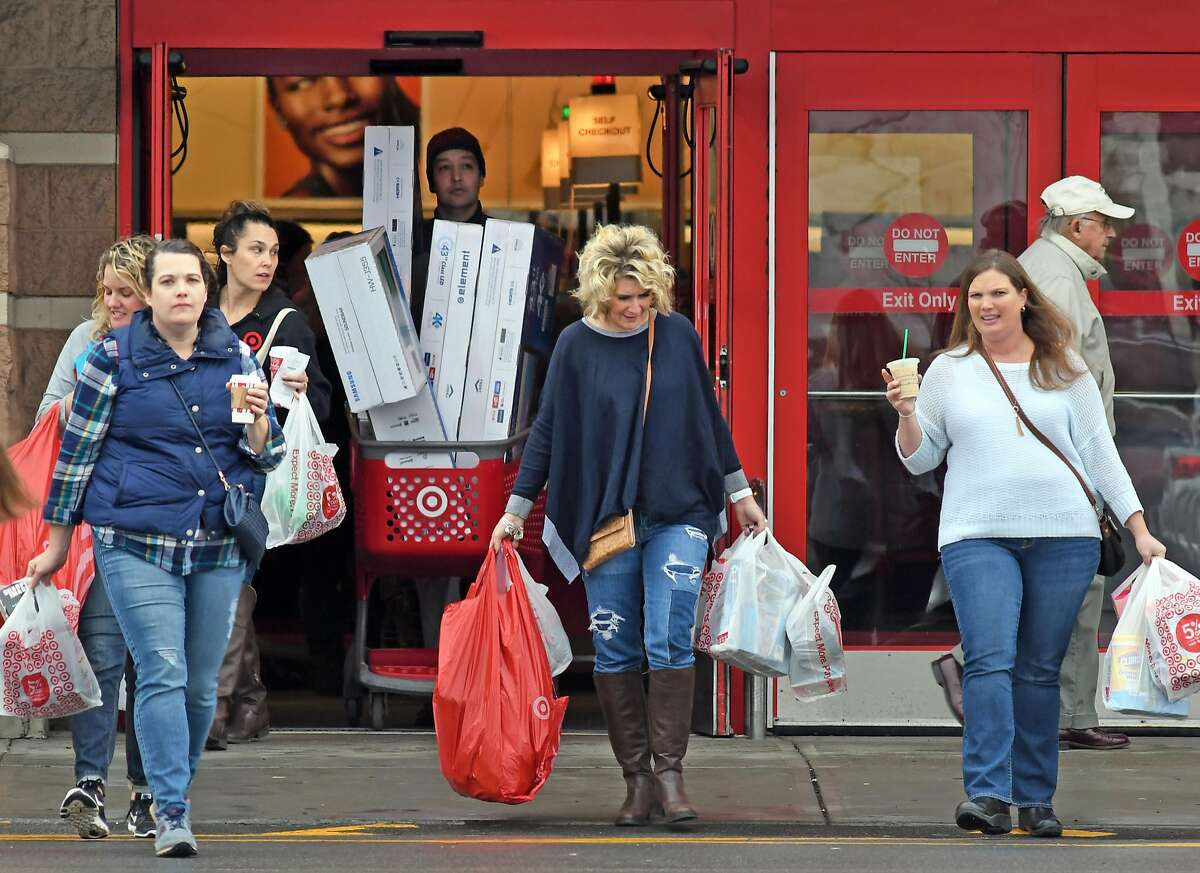 Black Friday shoppers at Target on Friday Nov. 25, 2016 in Colonie, N.Y. (Michael P. Farrell/Times Union)