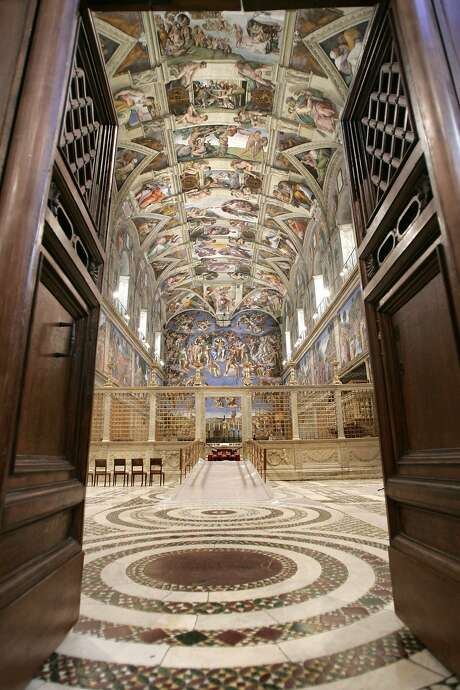 The Sistine Chapel: on the pre-lunch itinerary Photo: POOL, REUTERS