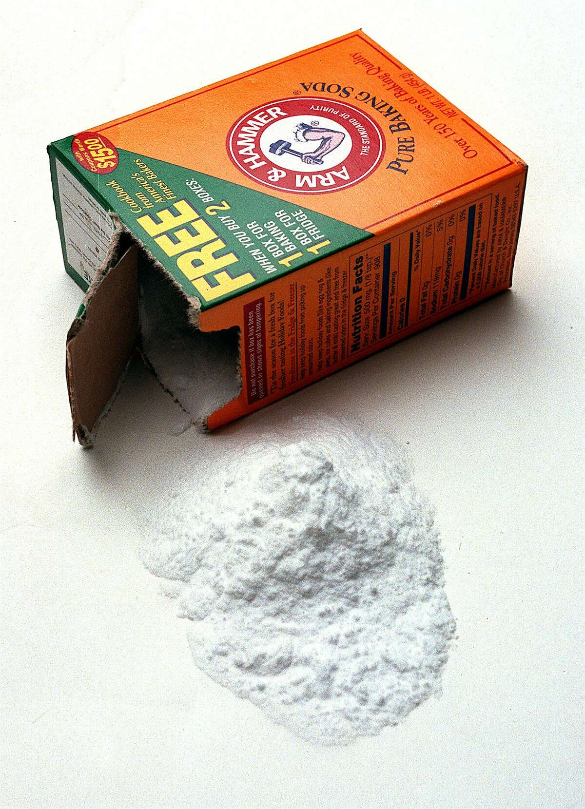 Sprinkle baking soda on funky rugs or upholstery, leave it for a few hours (or overnight), then vacuum it up.