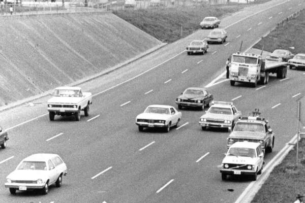 March 20, 1977: An overturned Weingarten's truck on a feeder road of Interstate 10 East tied up traffic for more than four hours Saturday. Police said the driver, Robert V. Anders, 53, lost control of the truck as he rounded a turn while approaching the interstate from the Eastex Freeway exit ramp. Anders sustained minor facial injuries.
