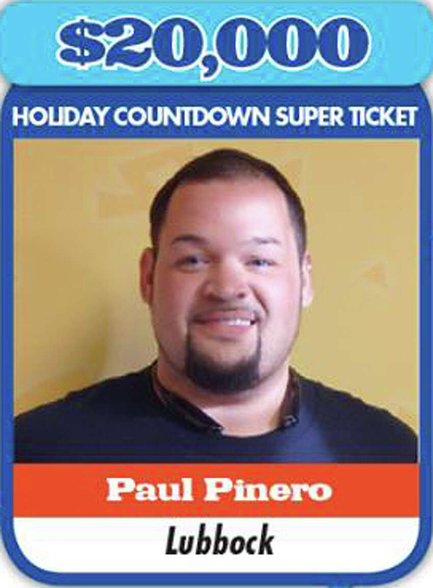 Paul PineroWon: $20,000Where: Lubbock