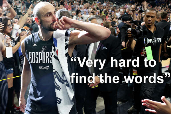 """Very hard to find the words to describe my feelings after yesterday's game,"" Manu Ginobili tweeted Tuesday morning. ""Still overwhelmed. Thank you SO very much."""