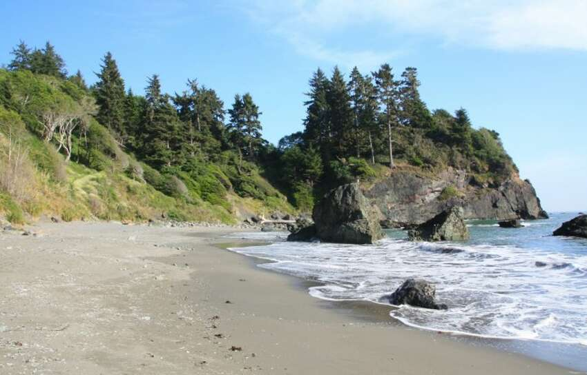 FILE - Humboldt County is showing caution in reopening its county. Shown: Baker's Beach in Humboldt County.