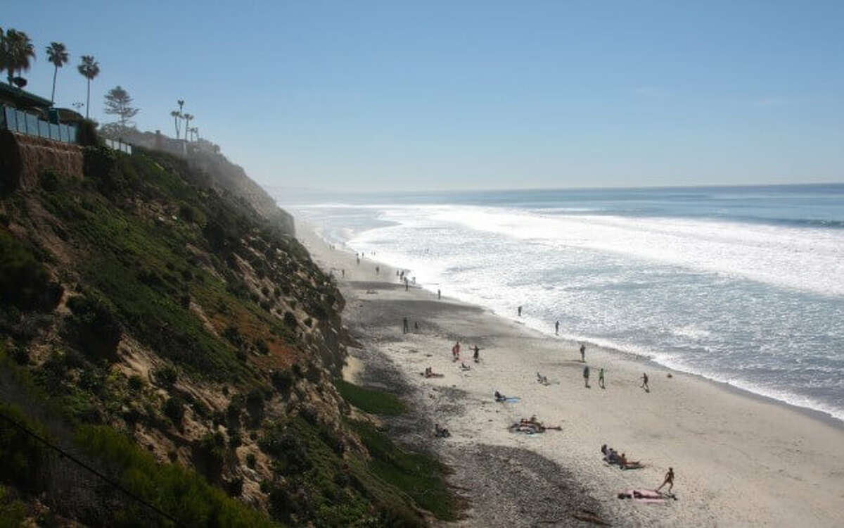 Boneyard Beach: In Encinitas, about 25 miles north of San Diego, Boneyard is a fairly secluded beach located below a very steep cliff.