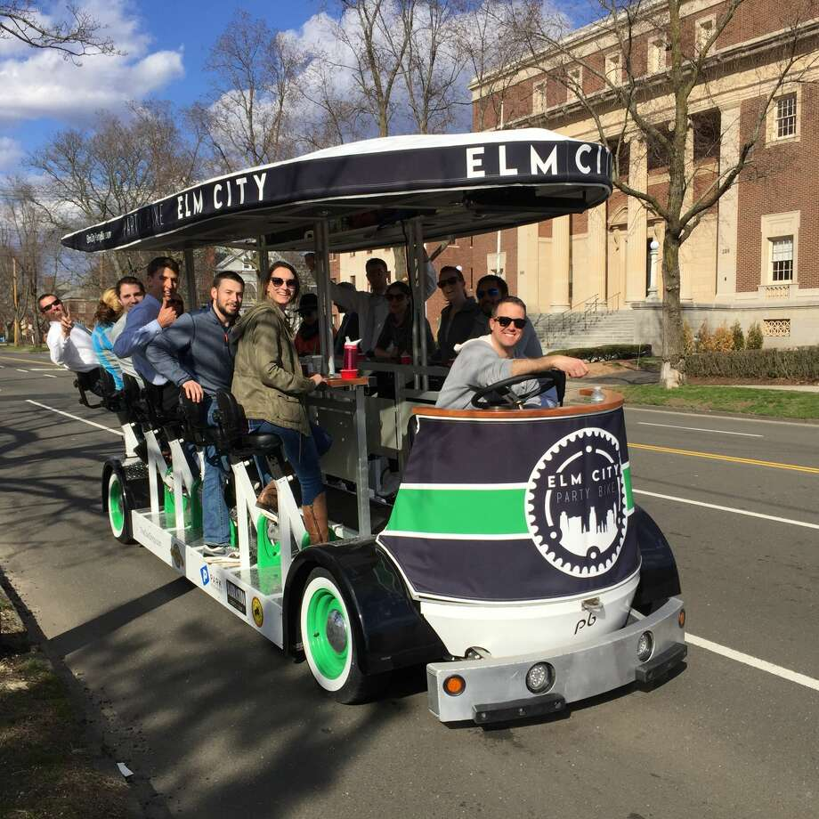 May 25The Party Bus will be at City Hall at 4 p.m. and the downtown Kick Off Tour will run from 6 p.m. to 8 p.m.Click through the gallery to see where to catch the Party Bike in Milford this summer. Photo: TASTE OF NEW HAVEN