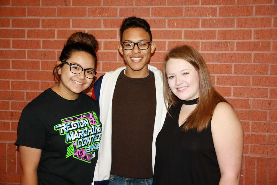 "Trini Perez, Eliah Ybarra and Sawyer Tirey have been selected to serve as color guard captains for the 2017-2018 Plainview High School ""Powerhouse of the Plains"" marching band."