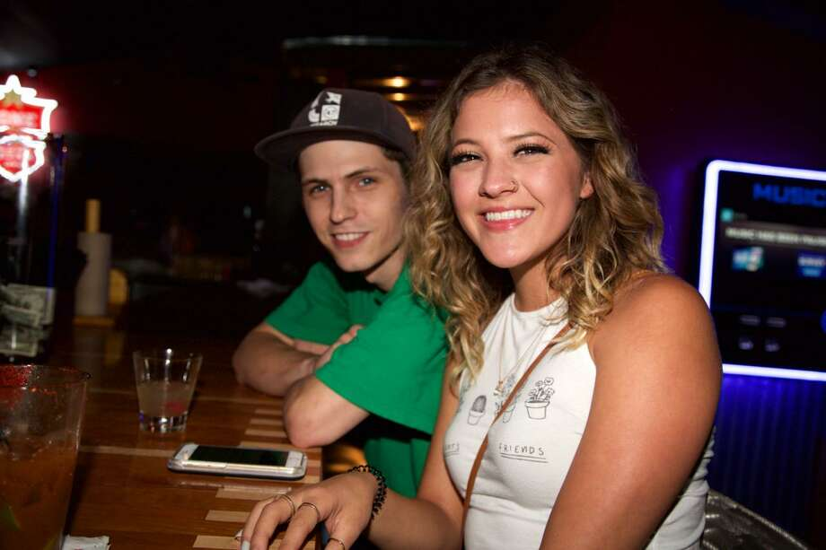 Kyle Keller and Alexis Rastelli get together at Whiskey Tree. Photo: Xelina Flores /For The Express-News