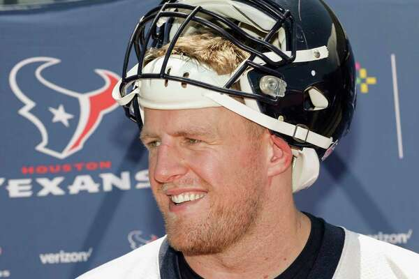 8293a15a9a1a Houston Texans defensive end J.J. Watt (99) speaks with the media after the  Houston