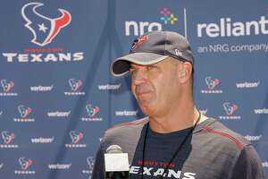 Houston Texans head coach Bill O'Brien speaks with the media after the Houston Texans OTAs at the Methodist Training Center in Houston, TX on Tuesday, May 23, 2017.