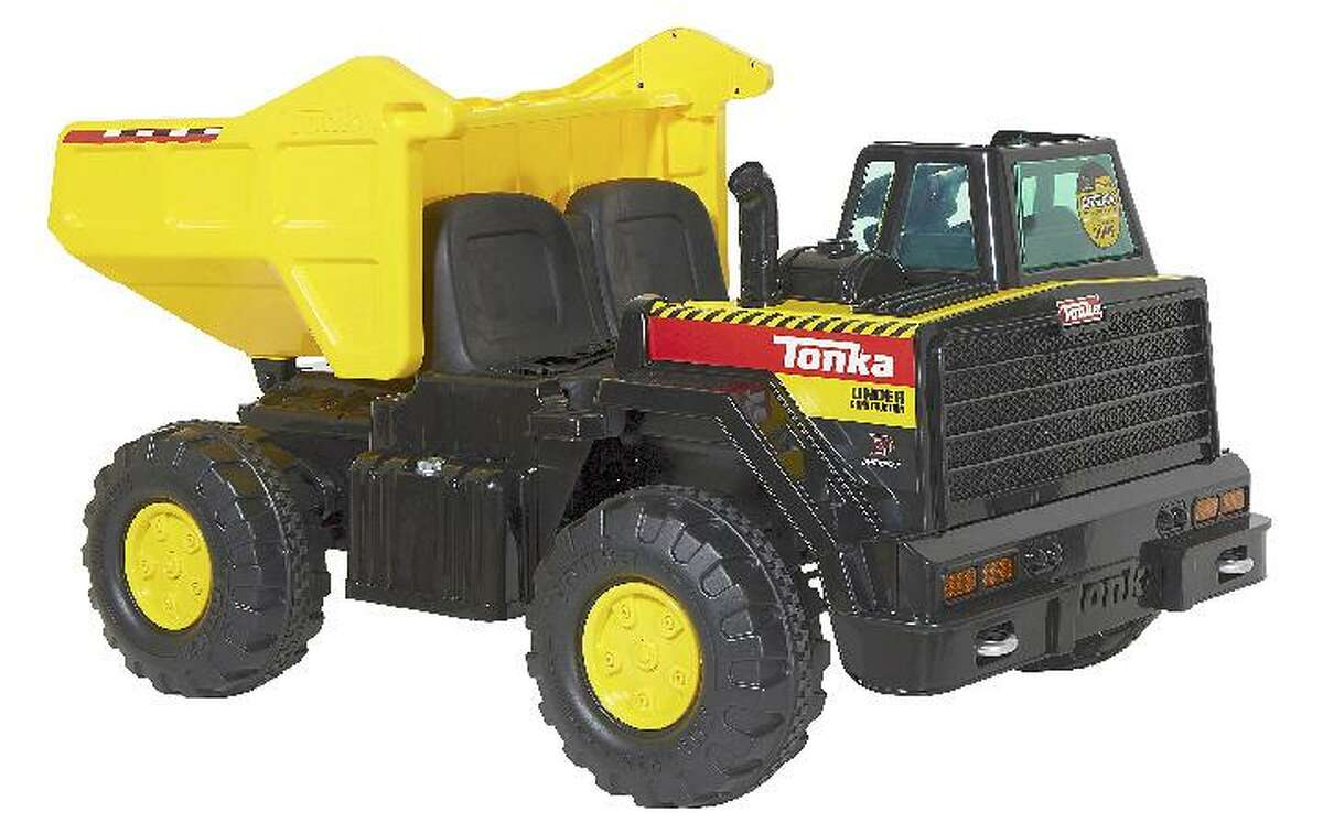 Dynacraft is recalling ride-on toys, including this Tonka Mighty Dump Truck , due to fall and crash hazards. Photo courtesy of the Consumer Product Safety Commission.