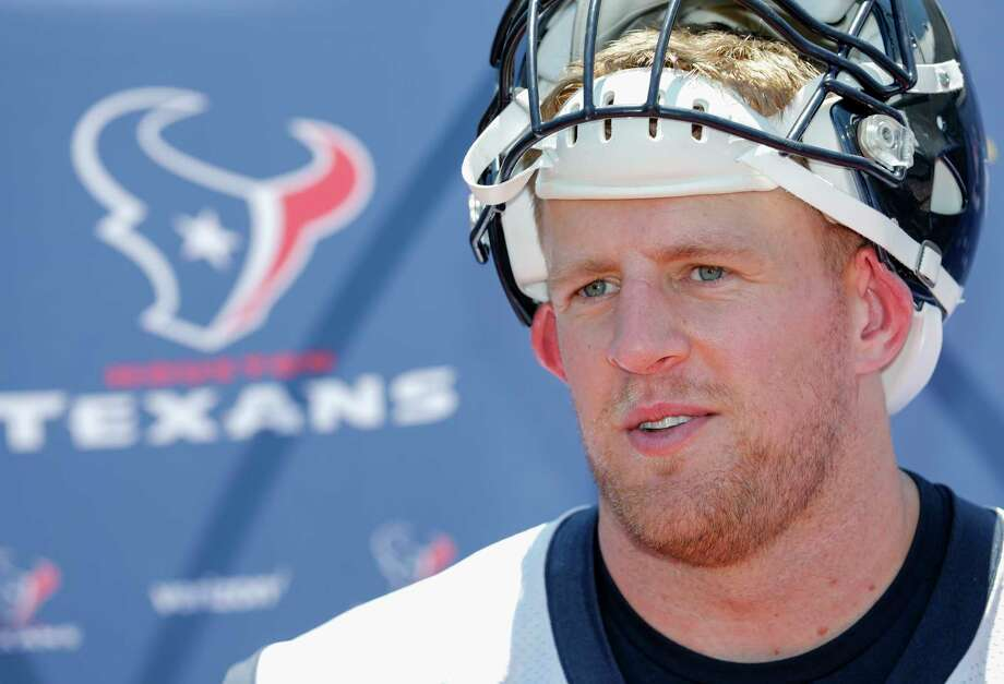 """PHOTOS: J.J. Watt reviews what some see as his regrettable moments in the spotlightHouston Texans star J.J. Watt appeared on the Barstool Sports podcast """"Pardon My Take,"""" and the hosts took him through some events that they thought were regrettable. Watt gave his opinion on those events.Browse through the photos above to see what Watt says about some of his moments in the spotlight. Photo: Tim Warner, For The Chronicle / Houston Chronicle"""