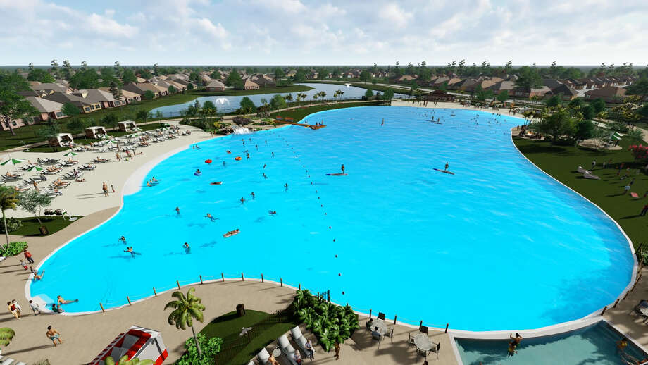 Houston's first-ever Crystal Lagoon is on its way to the Bayou City in the Balmoral neighborhood in Humble. Photo: Courtesy Of Land Tejas