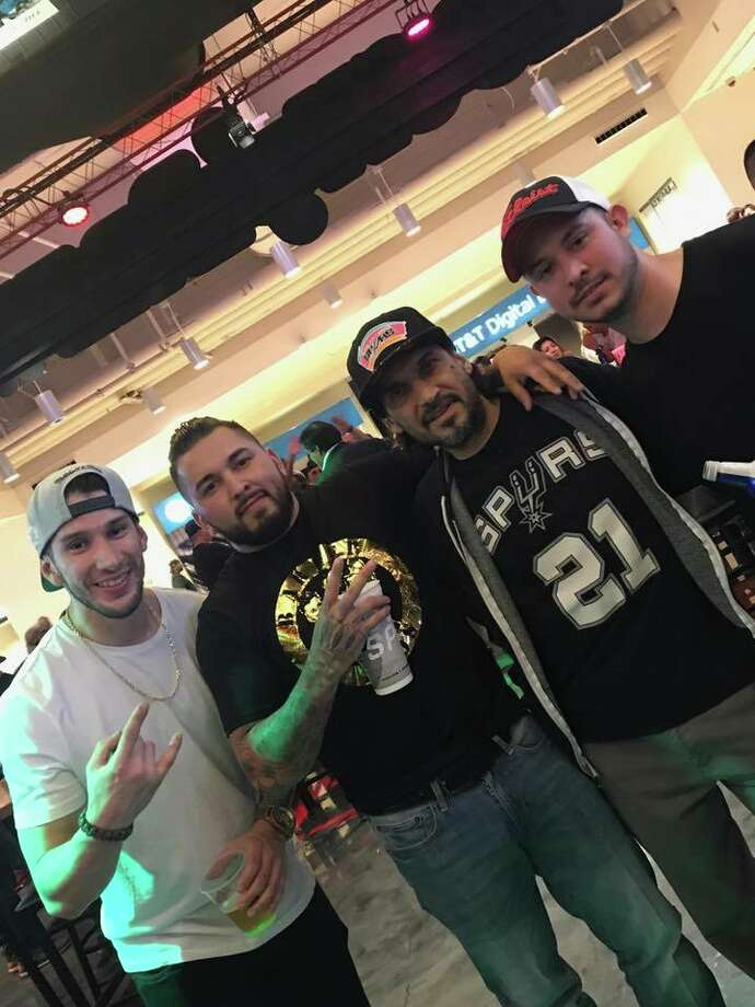 Gilbert Lopez spotted actor and San Antonio native Jesse Borrego at the Spurs game on May 22, 2017.