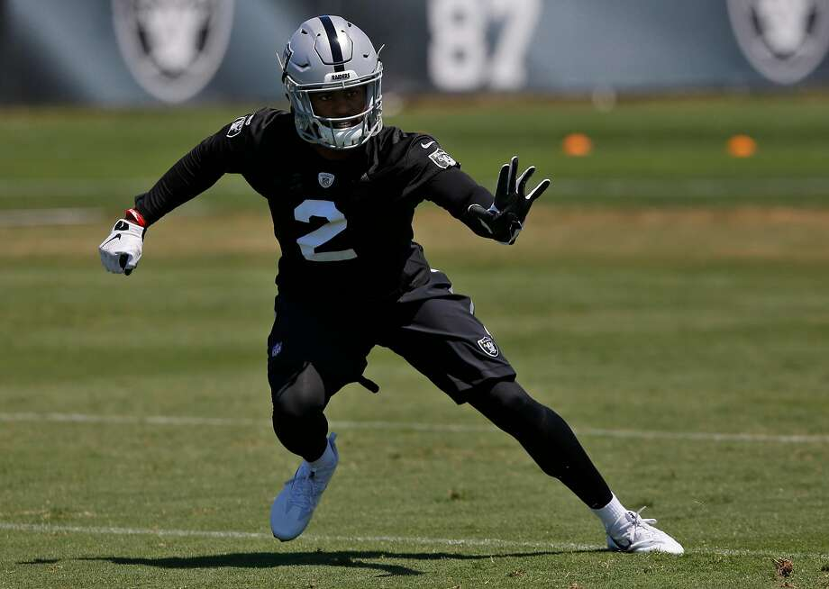 Gareon Conley runs a drill during practice at the Oakland Raiders facility May 23, 2017 in Alameda, Calif. Photo: Leah Millis, The Chronicle