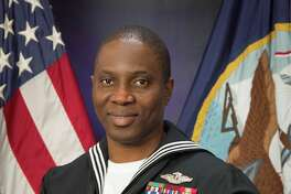 Petty Officer 1st Class Samuel Aremoh, a Houston Community College and American Military University graduate, was recently selected as Senior Sailor of the Quarter