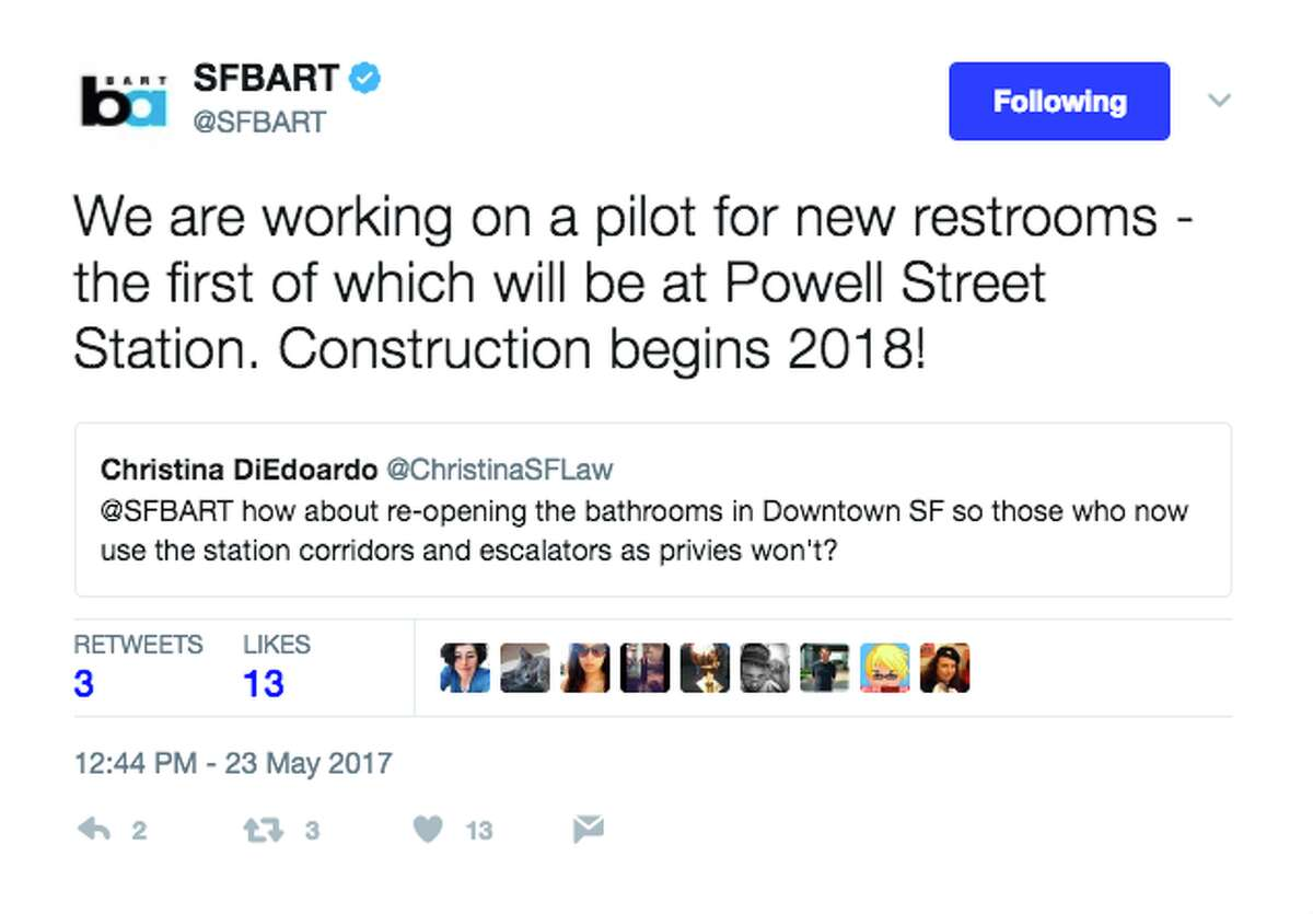 BART representatives responded to riders' questions and snarky comments on Twitter Tuesday for a virtual town hall.