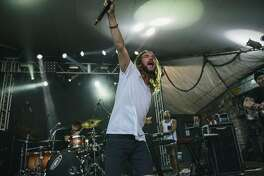AUSTIN, TX - AUGUST 04: Jared Watson of Dirty Heads performs at Stubbs on August 4, 2014 in Austin, Texas.