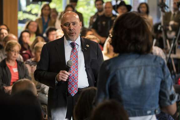 US Representative Tom MacArthur (R-NJ) speaks to constituents during a town hall meeting in Willingboro, New Jersey on May 10, 2017.  MacArthur wrote the amendment to the American Health Care Act that revived the failed bill, delivering a legislative victory for US President Donald Trump. / AFP PHOTO / DOMINICK REUTERDOMINICK REUTER/AFP/Getty Images