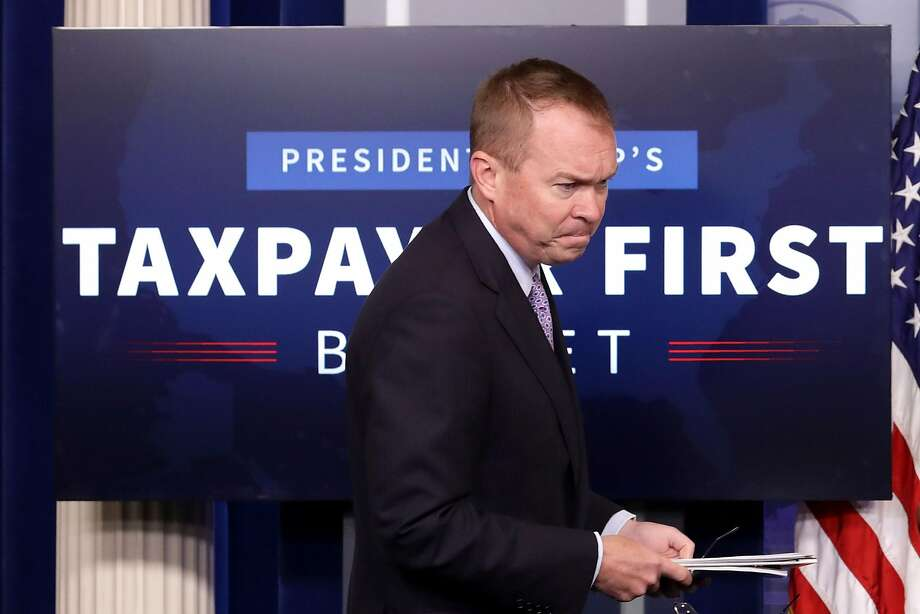 "Office of Management and Budget Director Mick Mulvaney says the thrust of the $4.1 trillion budget proposal is to ""put the taxpayer first,"" and cut social safety net programs as a way to get people back to work to speed economic growth. Photo: Chip Somodevilla, Getty Images"