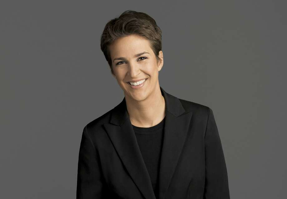 "This image released by NBC shows Rachel Maddow, host of ""The Rachel Maddow Show,"" on MSNBC. (MSNBC via AP) Photo: Associated Press"