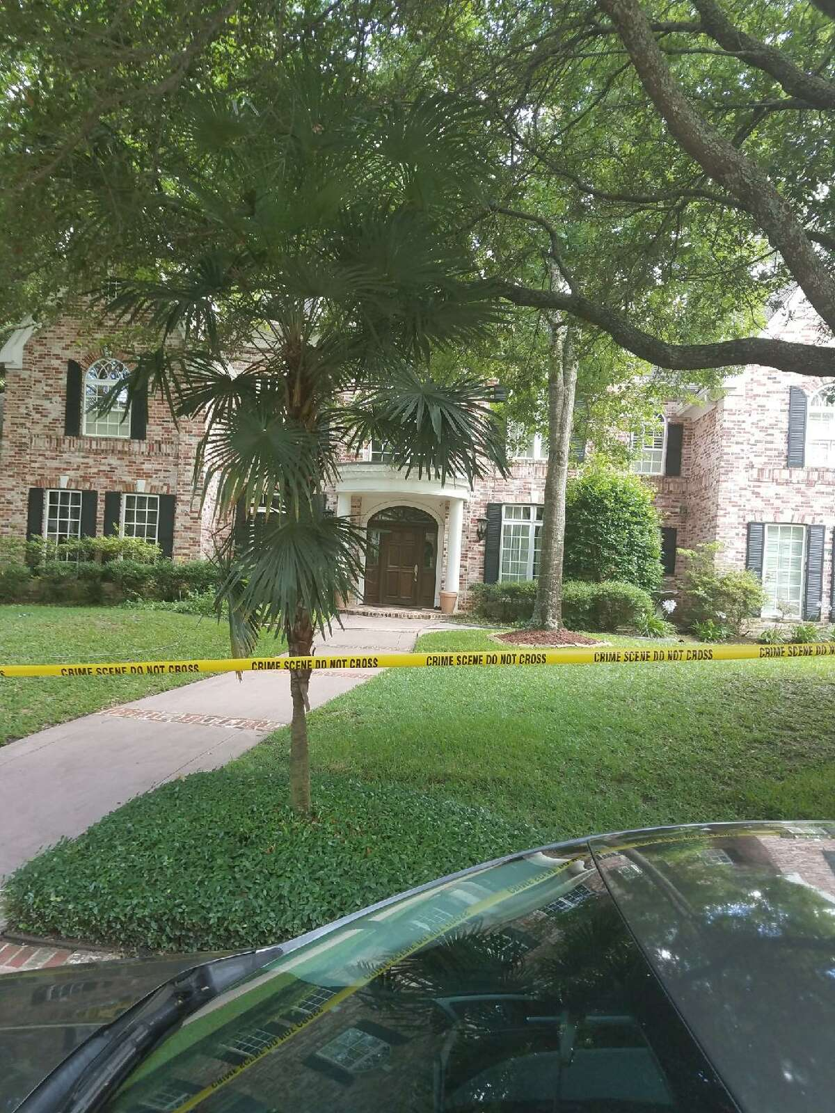 The FBI and other federal authorities raided a ritzy Hedwig Village home Tuesday.
