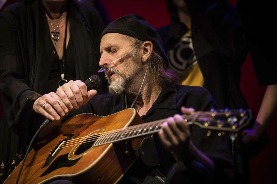 Jimmy LaFave performs Thursday during a concert honoring his life and music at the Paramount Theater in Austin. He died Sunday after a fight with cancer. Photo: Tamir Kalifa /Associated Press / AMERICAN-STATESMAN