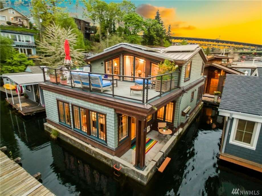 A classic Seattle floating home that makes Portage Bay your yard. On top of that access, this three-bedroom has tons of high-end finishes, like exposed fir beams, a gas fireplace and solar power.It's at 3146 Portage Bay Pl. E. #N, listed for $1,350,000. See the full listing here. Photo: HD Estates