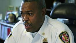 San Antonio Fire Chief Charles Hood on Tuesday discusses the death of firefighter Scott Deem, who died May 18.