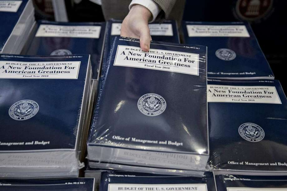 State delegation blasts trumps budget blueprint connecticut post a copy of us president donald trumps fiscal 2018 budget proposal is arranged on a table malvernweather Image collections