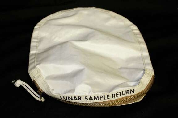 This sample bag of lunar dust from the 1969 moon landing by the Apollo 11 crew was put up for auction in 2015 and bought by a collector in Illinois.