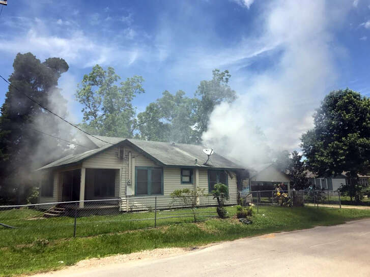 A wood-frame home on the corner of Love and Mayo streets in Cleveland was damaged by fire Tuesday. The residents were not home at the time of the fire but their cat was killed in the blaze.