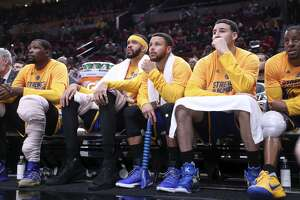 Forward Kevin Durant, center JaVale McGee, guards Stephen Curry and Klay Thompson and swingman Andre Iguodala spent a lot of time on the bench in the fourth quarter with so many of the Warriors' first 12 playoff games handily decided by then.