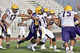 Albert Garcia completed 10 passes for 153 yards and a touchdown Tuesday in LBJ's spring game at the SAC.