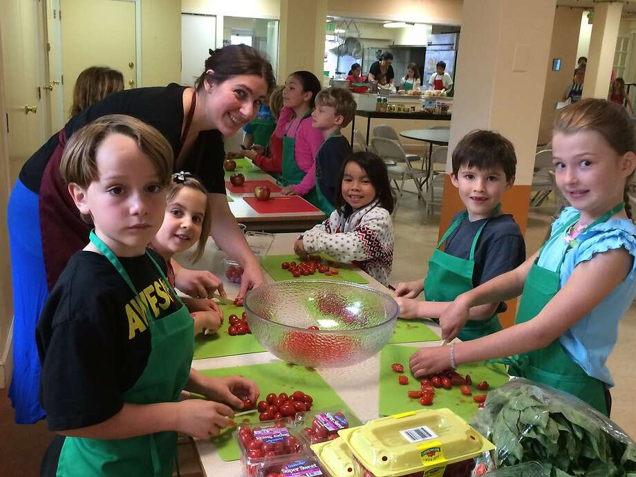 The cooking school serves campers ages 6 to 13.