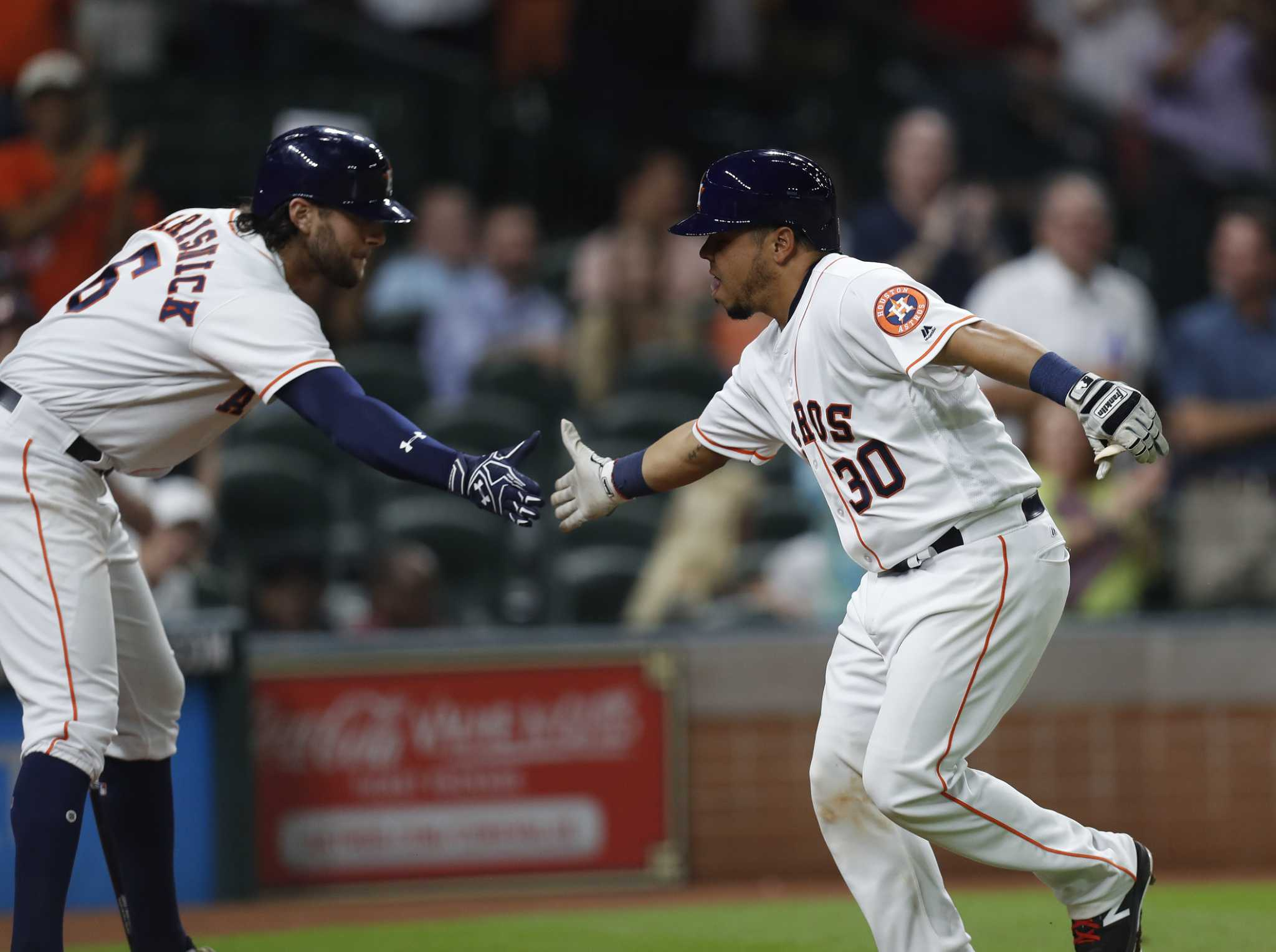 online store ba503 da5de New catcher Juan Centeno makes impact in Astros' 6-2 win ...