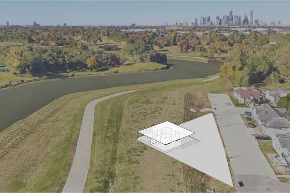 Renderings of Brays Bayou Greenway pavilions