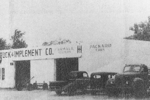 The Conroe Truck & Implement Company owned by George and Fred Nutter Sr. It was located at the northeast corner of San Jacinto and Phillips streets in Conroe. According to Dick Nutter, Fred's son, who grew up around the business, it burned down in 1961 about the time of Hurricane Carla. Dick Nutter bought new property and opened a new Conroe Truck & Tractor Inc. which he ran for 50 years, up until 1994.