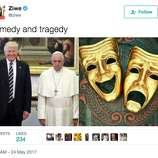 square_gallery_thumb a photo of pope francis looking miserable with the trumps spurs,Trump Family Meme