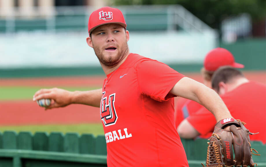 Lamar's Carson Lance warms up during practice on Tuesday. The Cardinals will play 8th seeded in this week's Southland Conference.  Photo taken Tuesday, May 23, 2017 Guiseppe Barranco/The Enterprise Photo: Guiseppe Barranco, Photo Editor