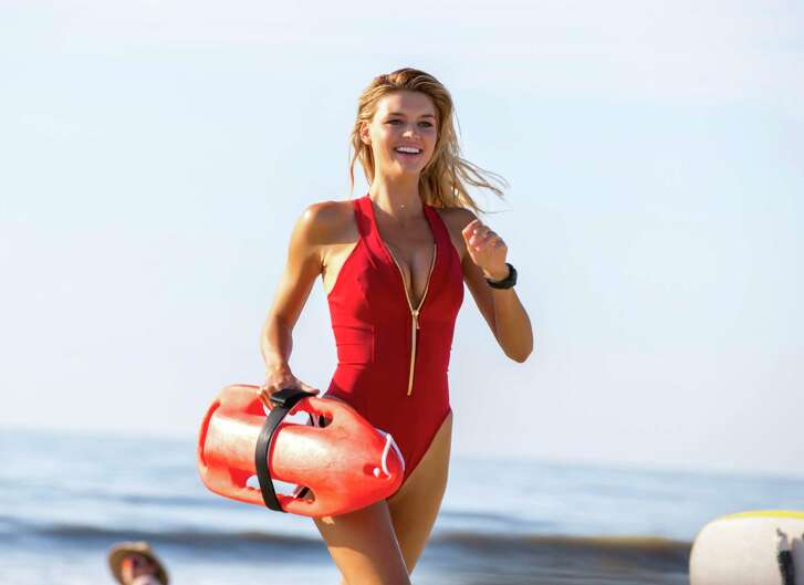 """Kelly Rohrbach stars as C.J. Parker - the charcter that made Pamela Anderson a star - in """"Baywatch."""""""