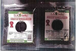 L.A. Lucky Import & Export Inc. announced it is recalling 2.1-ounce packets of L.A. Lucky Brand Basil Seeds due to presence of salmonella in the packet. Photo courtesy of the U.S. Food and Drug Administration.